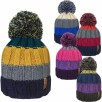 Chunky Knit Thermal Lined Bobble Hat