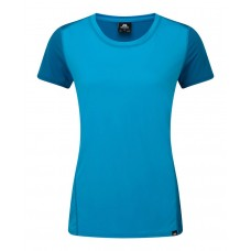Lumen Womens Tee - Digital Blue / Lagoon