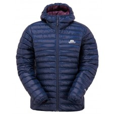 Womens Arete Hooded Down Jacket - Cosmos