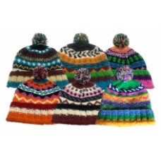 Nepalese Sherpa Lined Bobble Hat